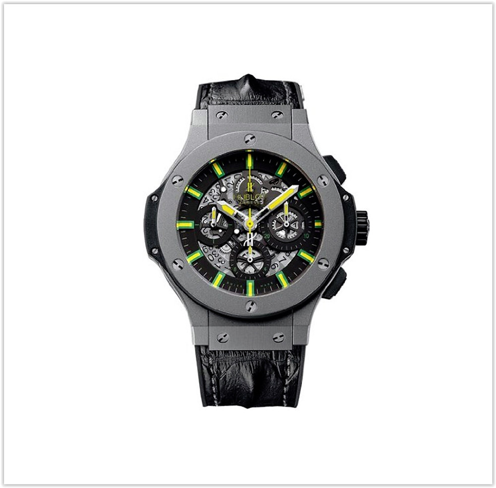 Hublot Oscar Niemeyer Skeleton Dial Black Leather Men's Watch buy online