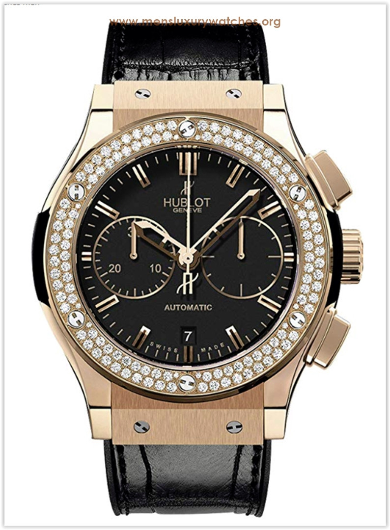 Hublot Classic Fusion Chronograph Rose Gold Diamonds Men's Watch Price