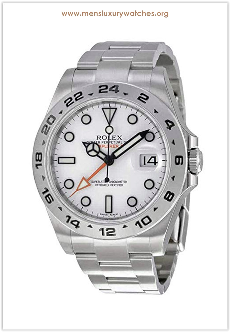 Rolex Explorer II White Dial Stainless Steel Oyster Bracelet Automatic Men's Watch Price