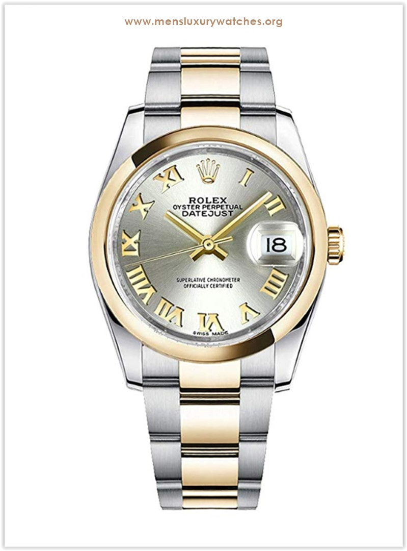 Rolex Datejust 116203 with stainless-steel bezel and silver dial Men's Watch the best price