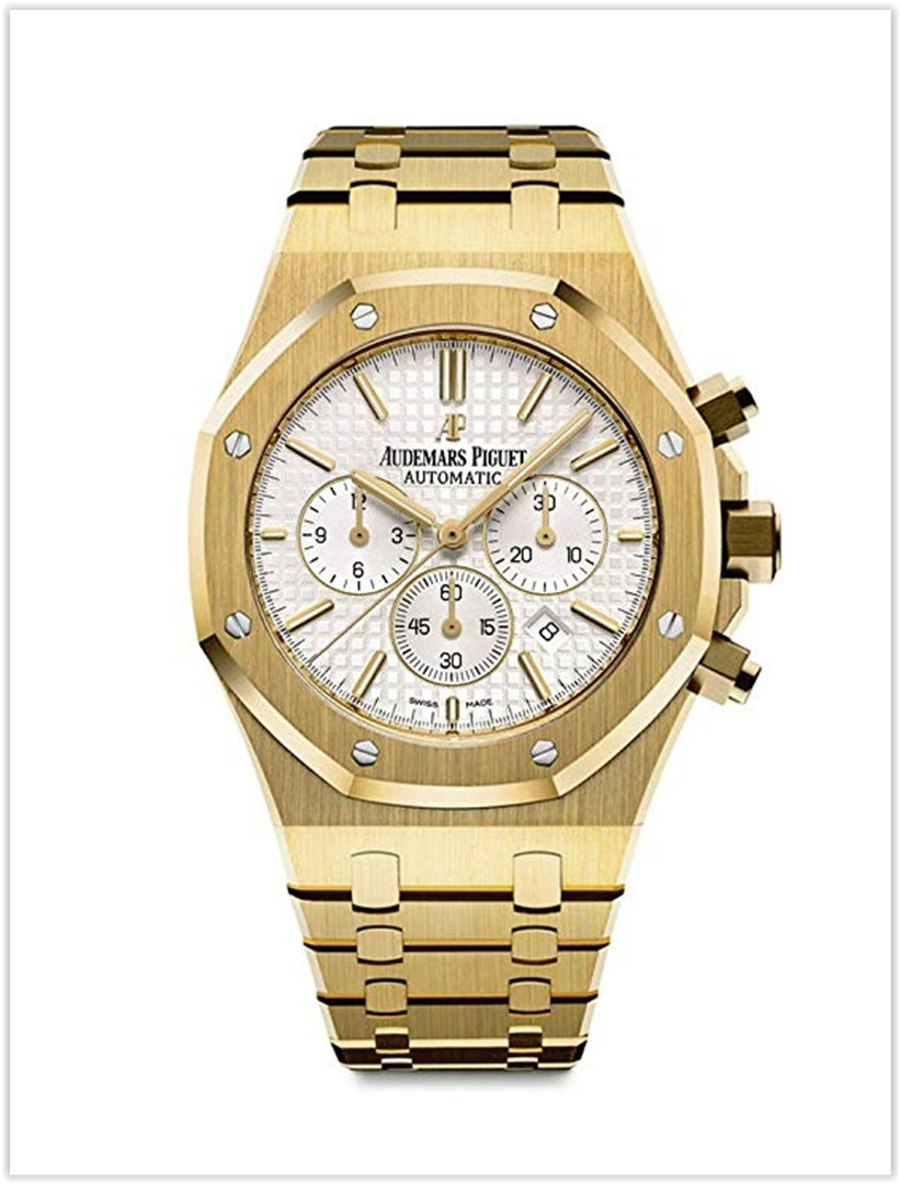 Audemars Piguet Royal Oak Chronograph 41mm Yellow Gold White Dial Men's Watch price