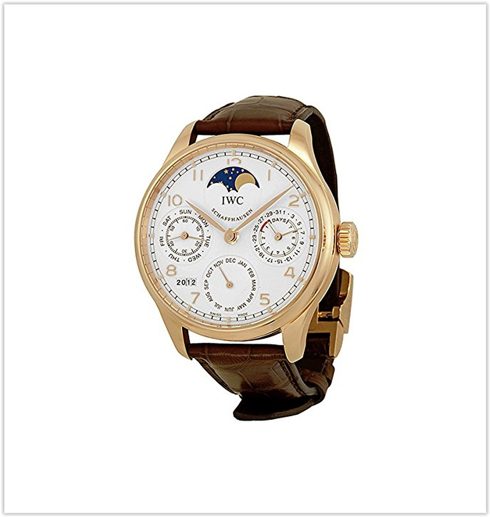 IWC Portuguese Perpetual Calendar Moonphase Automatic 18 kt Rose Gold Mens Watchbest price