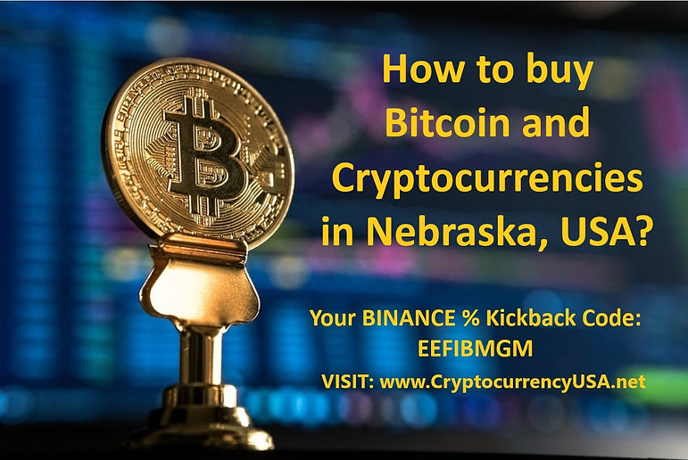 How to buy Bitcoin and cryptocurrencies in Nebraska, USA?