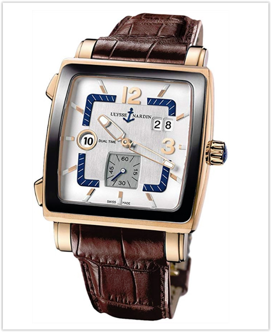 Ulysse Nardin Quadrato Dual Time Men's Watch Rose Gold best price