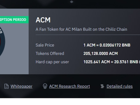 Binance and Chiliz offer, the A.C Milan token is listed here are the details How to buy?