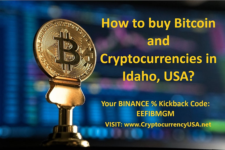 How to buy Bitcoin and cryptocurrencies in Idaho, USA?