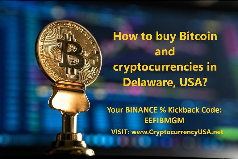 How to buy Bitcoin and cryptocurrencies in Delaware, USA?