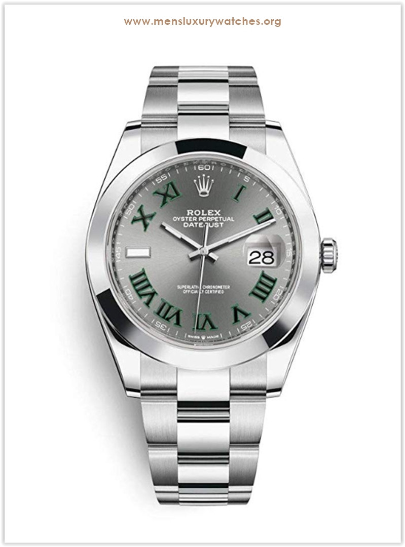 Rolex Datejust 41 mm Stainless Steel Oyster Bracelet Roman Numeral Men's Watch the best price