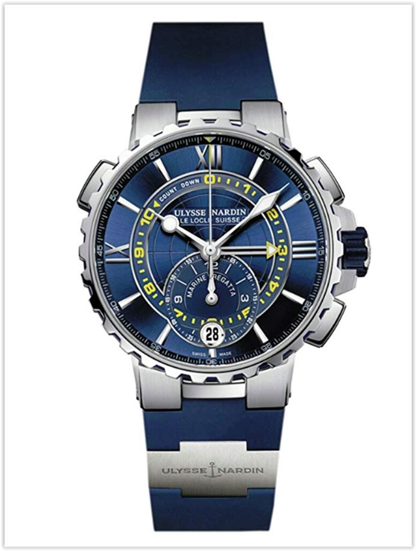 Ulysse Nardin Marine Regatta Stainless Steel Blue Rubber Men's Watch Price