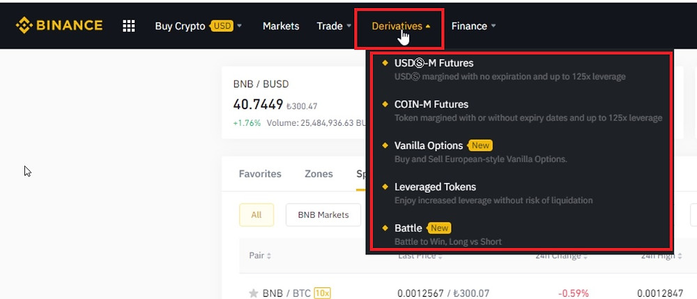 How to open a Binance Futures account?