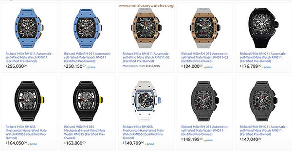 The Richard Mille Online Watch Store