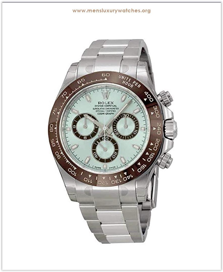 Rolex Cosmograph Daytona Ice Blue Dial Platinum Men's Watch Discount price