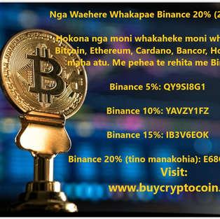 Nga Waehere Whakapae Binance 20% (2020-2