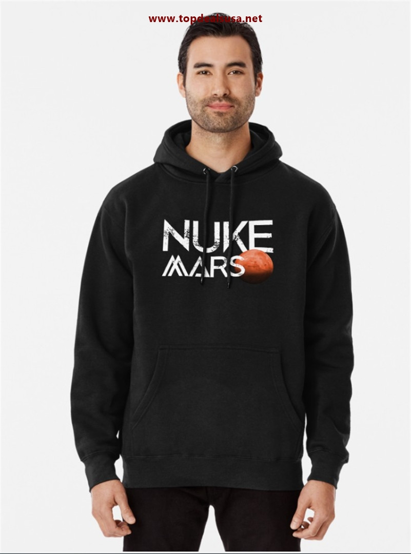 Nuke Mars Space Exploration Rocket Terraform Design Pullover Hoodie