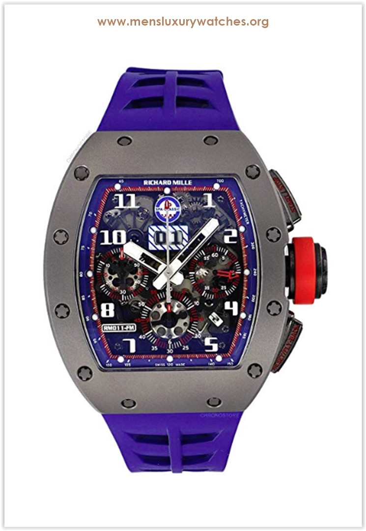 Richard Mille RM 011 Spa Limited Edition Titanium Blue Rubber Automatic Watch the best price