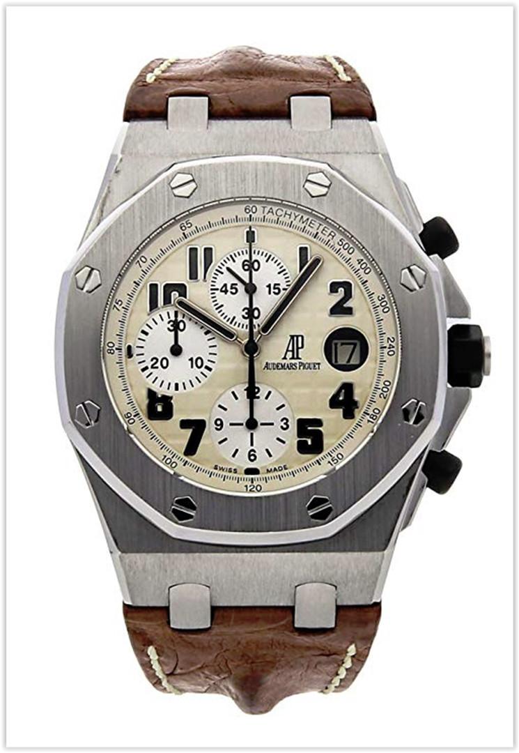 Audemars Piguet Royal Oak Offshore Mechanical (Automatic) White Dial Men's Watch Price