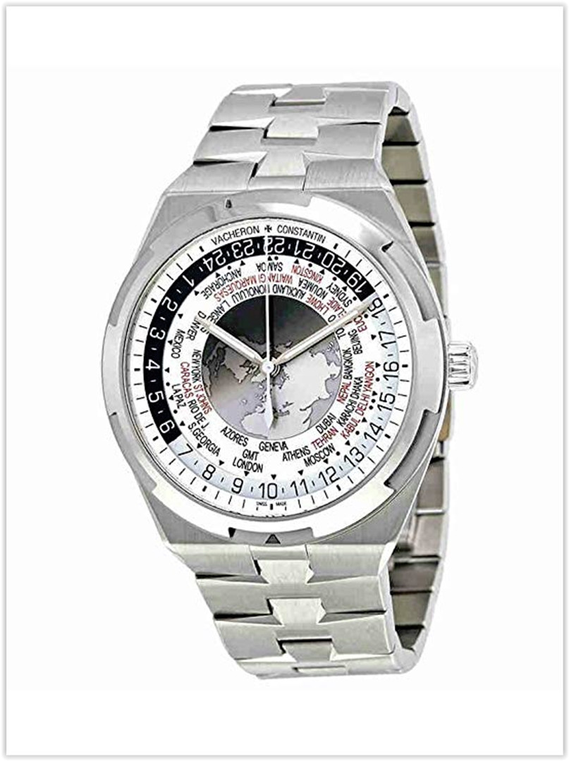 Vacheron Constantin Overseas World Time Silver Dial Men's Watch Price