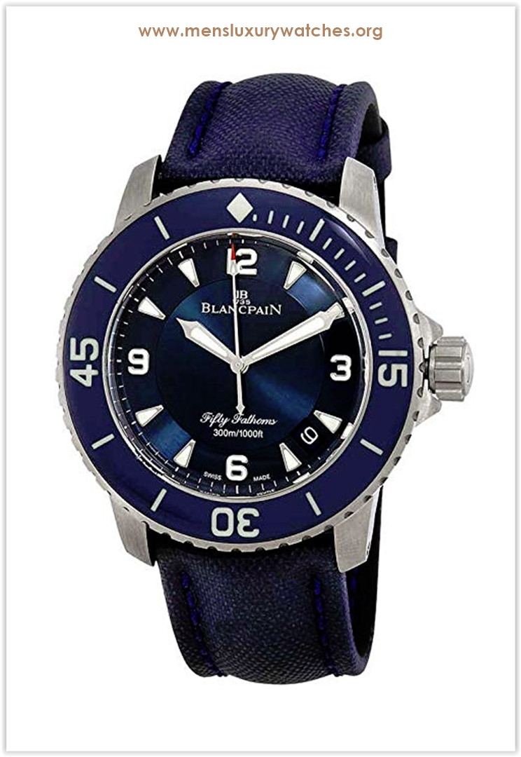 Blancpain Fifty Fathoms Automatic Blue Dial Men's Watch Price