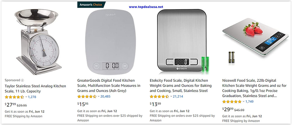 Top 10 digital food kitchen scale