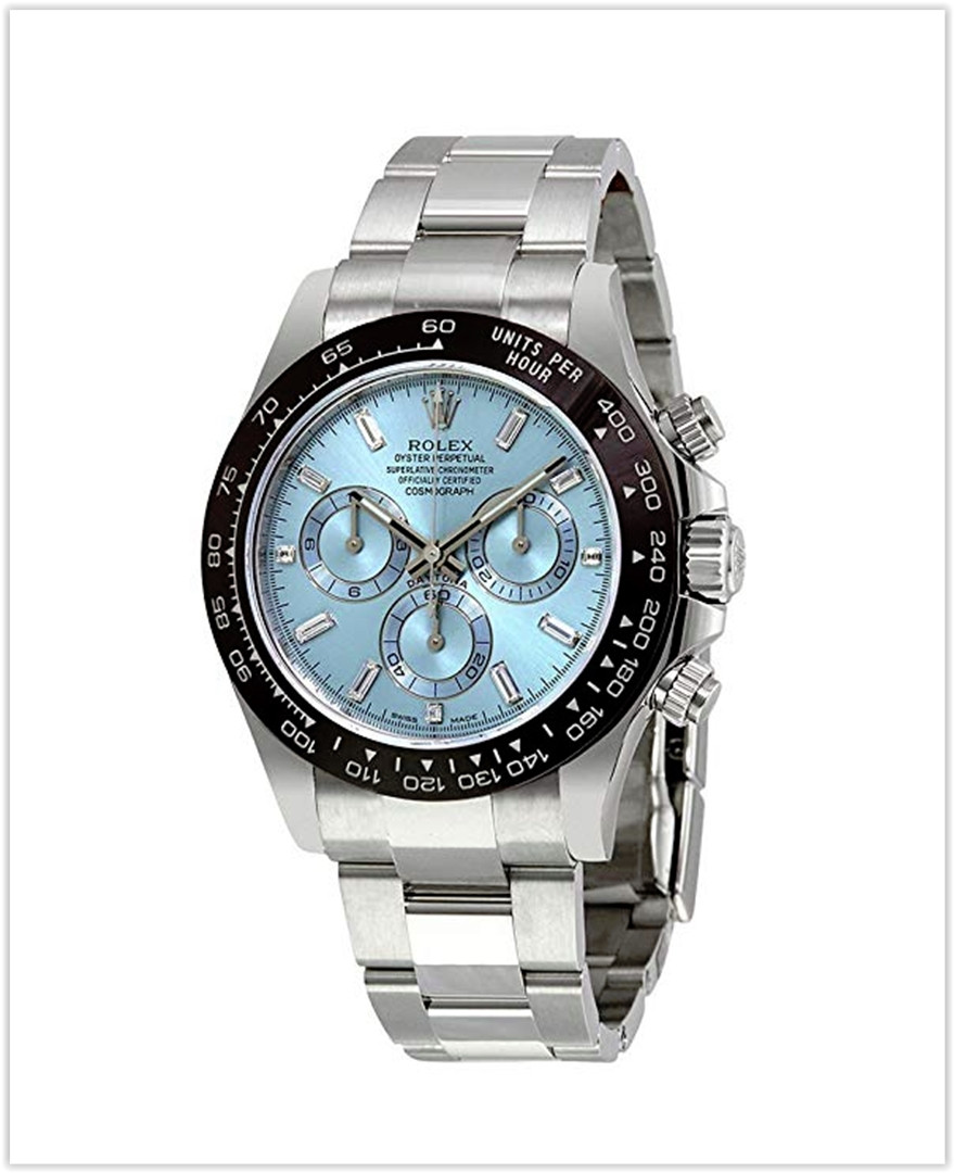 Rolex Oyster Perpetual Cosmograph Daytona Ice Blue Dial Automatic Men's Chronograph Watch best price