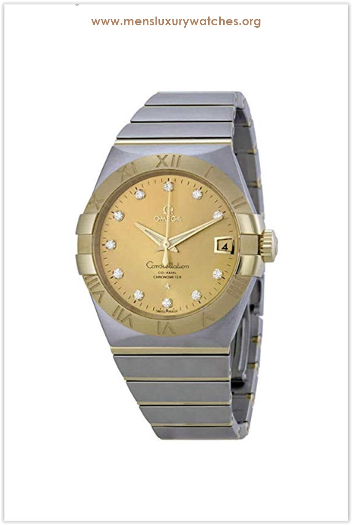 Omega Constellation Automatic Champagne Dial Men's Watch Price