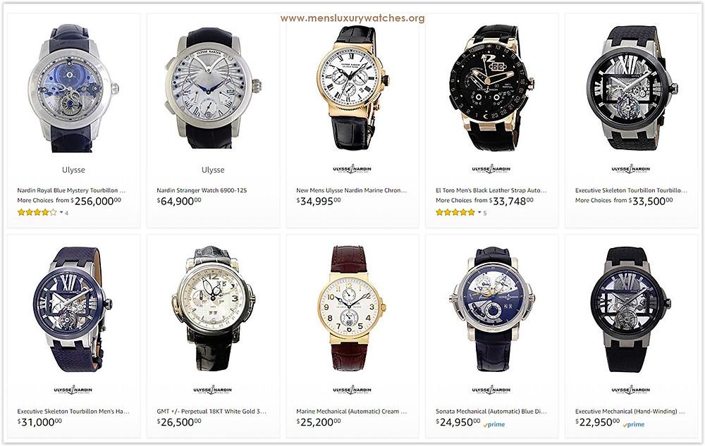 Ulysse Nardin Men's Watches Price List