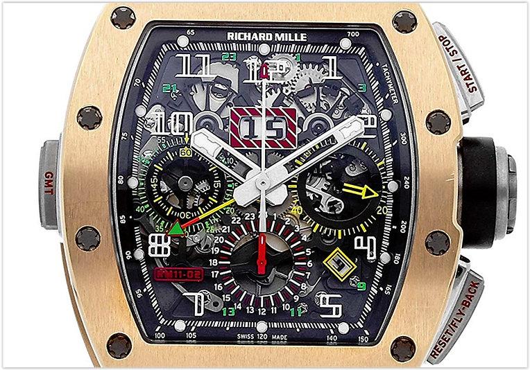 Richard Mille RM11 MechanicalSkeletonized Dial Men's Watch