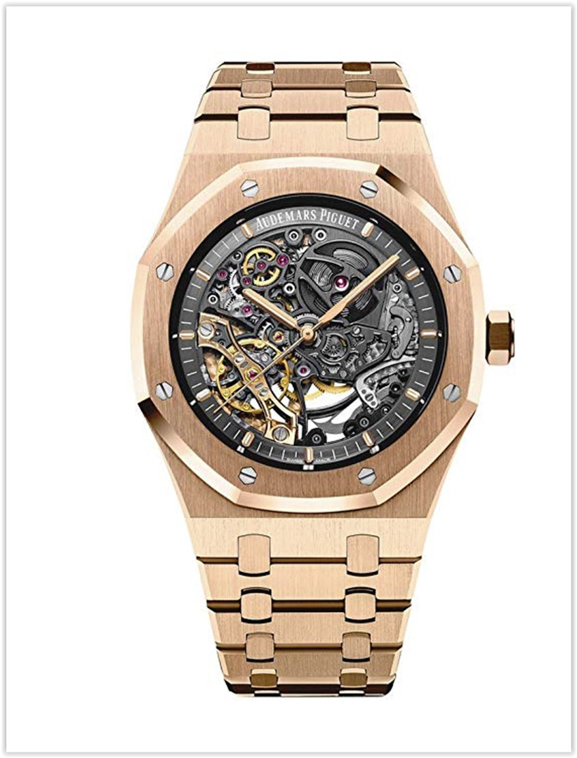 Audemars Piguet AP Royal Oak Double Balance Wheel Openworked Rose Gold Men's Watch Price
