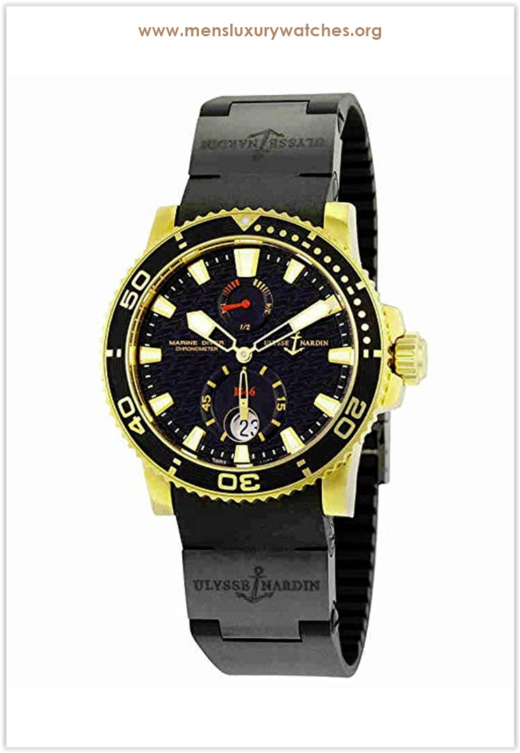 Ulysse Nardin Marine Diver Automatic Black Dial Black Rubber Men's Watch the best price