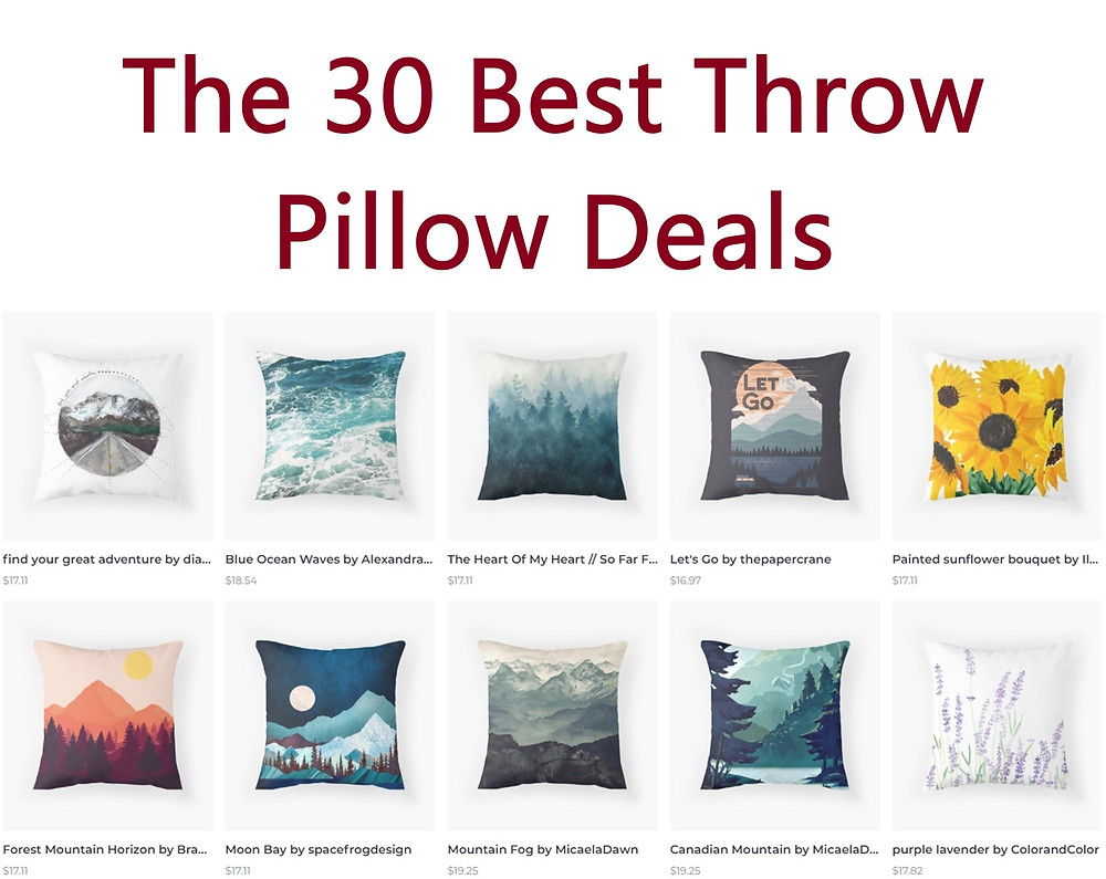 The 30 Best Throw Pillow Deals