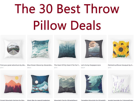 30 Amazing Throw Pillow Deals