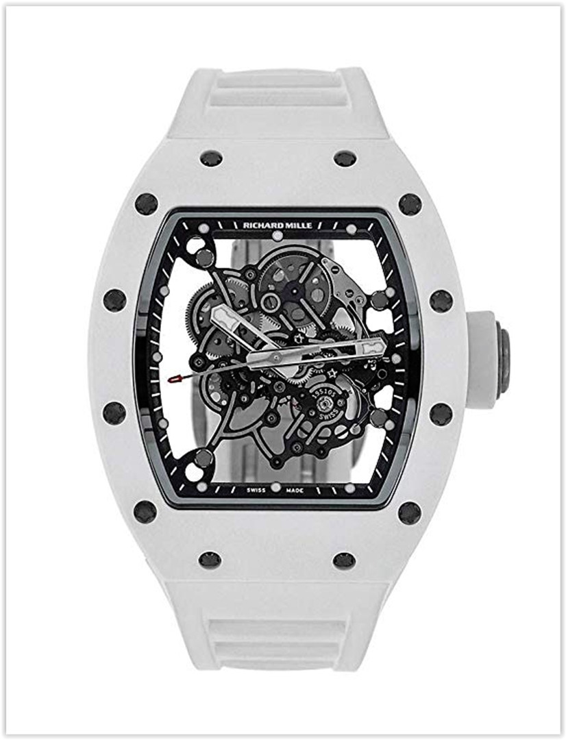 Richard Mille RM 055 Automatic-self-Wind Men's Watch White Ceramic RM055 Price