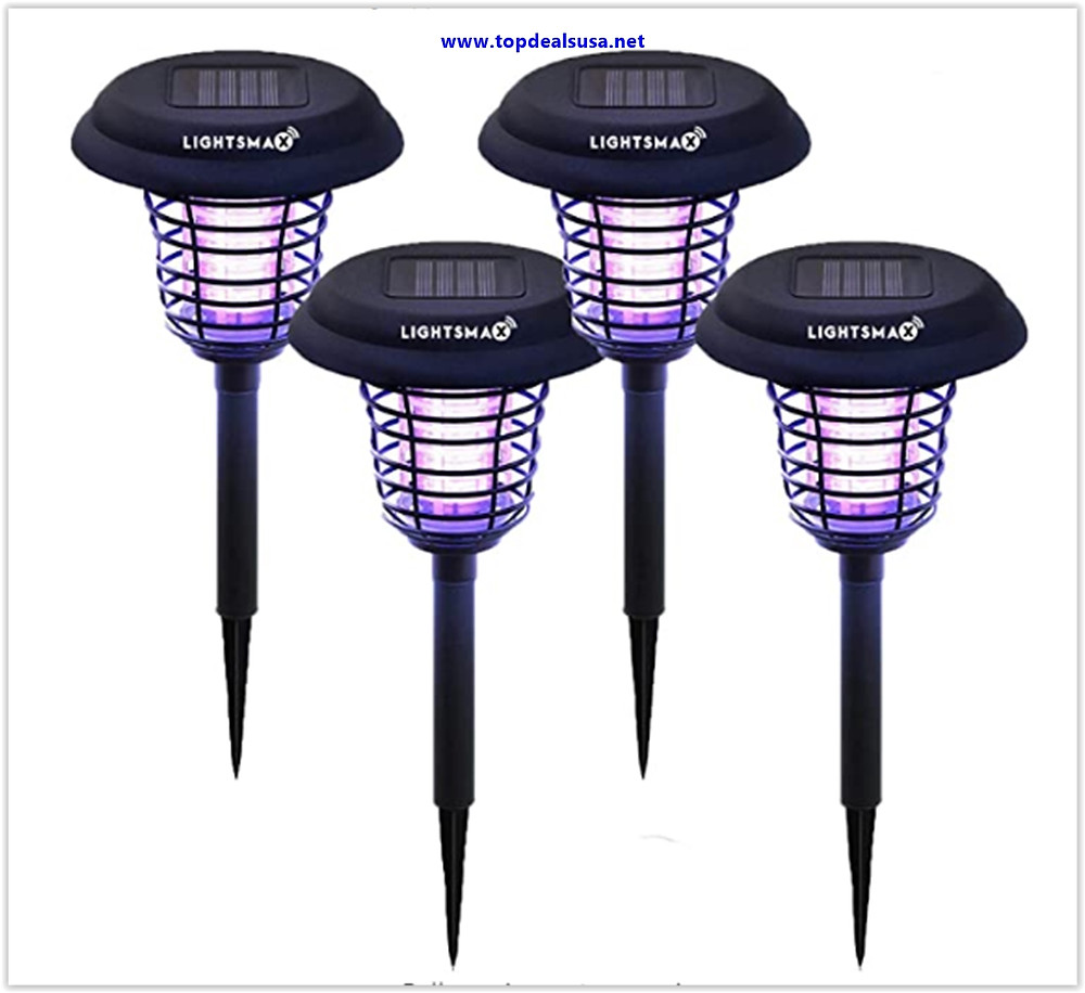 Best Buy LIGHTSMAX Solar Powered Light, Mosquito, and Insect Bug Zapper-LEDUV Radiation Outdoor