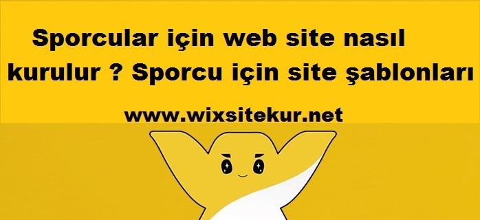 Sporcular için web site nasıl kurulur ? Sporcu için site şablonları