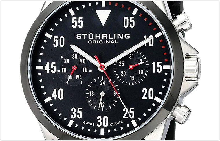 Stuhrling Original Men's Aviator Analog