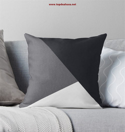 Grey geometric triangle Throw Pillow