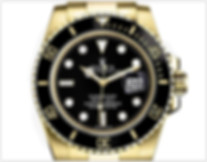 Rolex Submariner Yellow Gold Watch Black