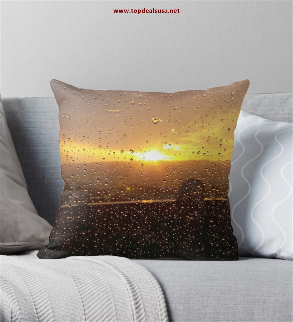 Dance of rain and sunshine Throw Pillow.
