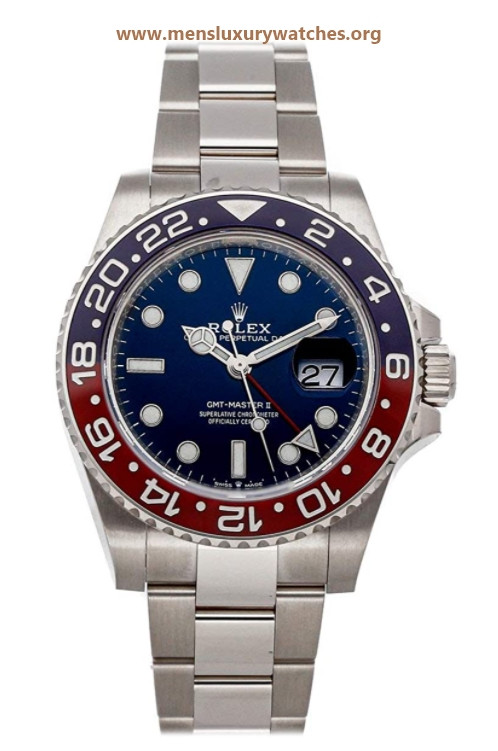 Rolex GMT-Master II Mechanical(Automatic) Blue Dial Watch 126719BLRO (Pre-Owned)