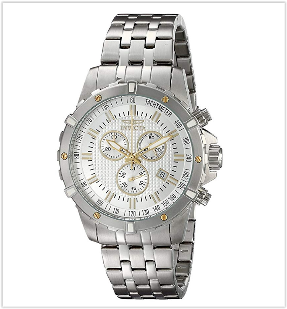 Invicta Men's 17503 Specialty Analog Display Swiss Quartz Silver Watch