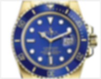 ROLEX SUBMARINER YELLOW GOLD BLUE