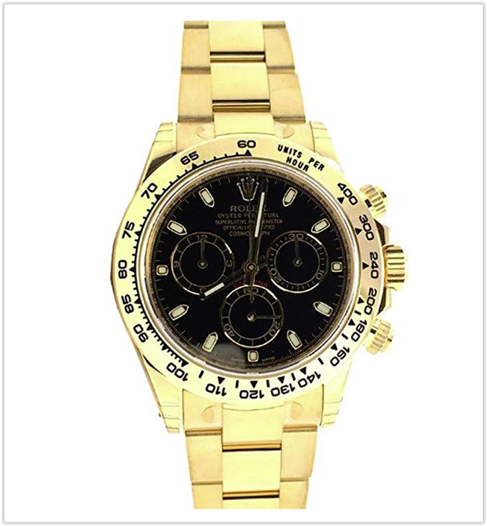 Rolex Cosmograph Daytona 40 Black Dial Gold Men's Watch best price