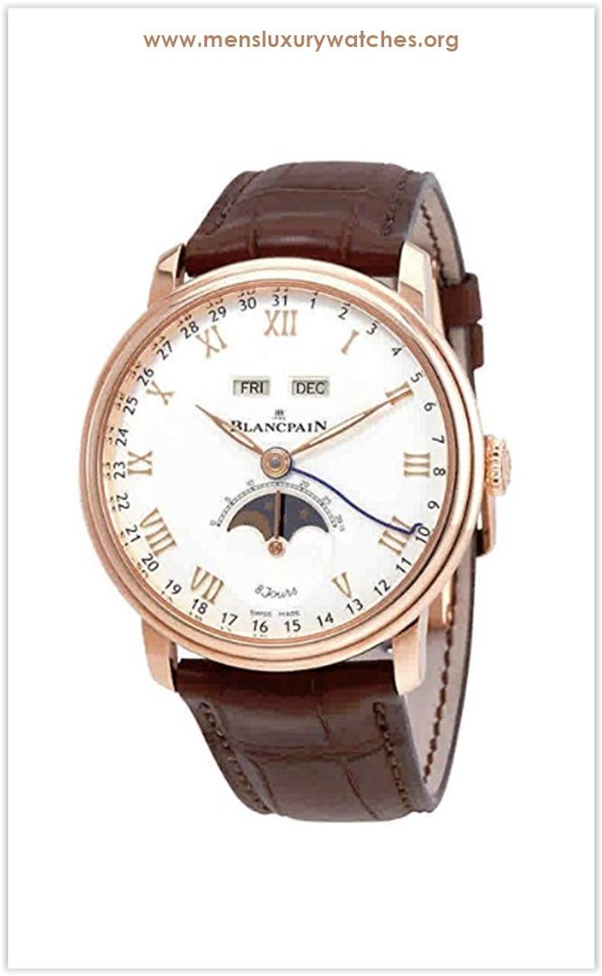 Blancpain Villeret Complete Calendar 8 Days Men's Watch Price