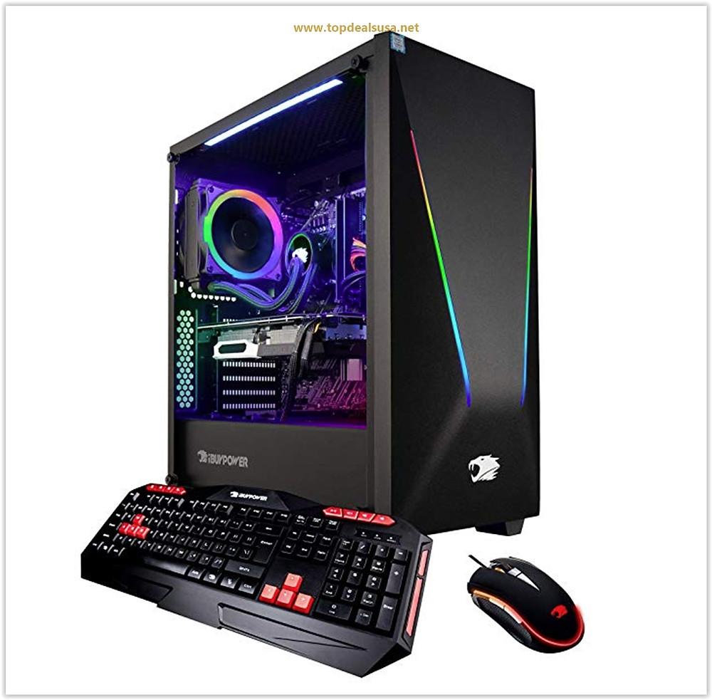 iBUYPOWER Elite Gaming PC Computer Desktop Trace PRO9300 (Intel i9-9900K 8-Core 3.6 GHz, NVIDIA GeForce RTX 2080 Super 8GB, 16GB DDR4 RAM, 1TB SSD, WiFi Included, Windows 10, VR Ready) Black