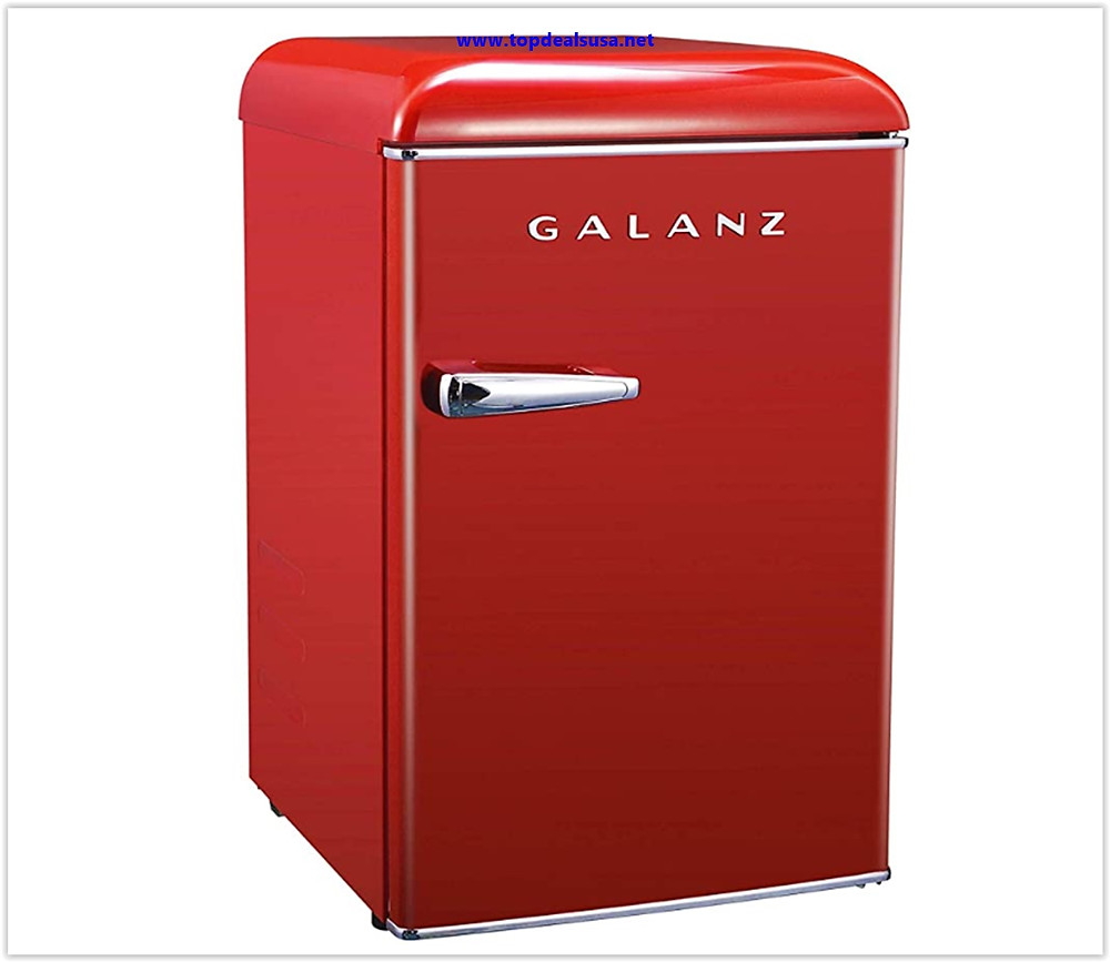 Galanz GLR25MRDR10 Mini Fridge Retro Refrigerator