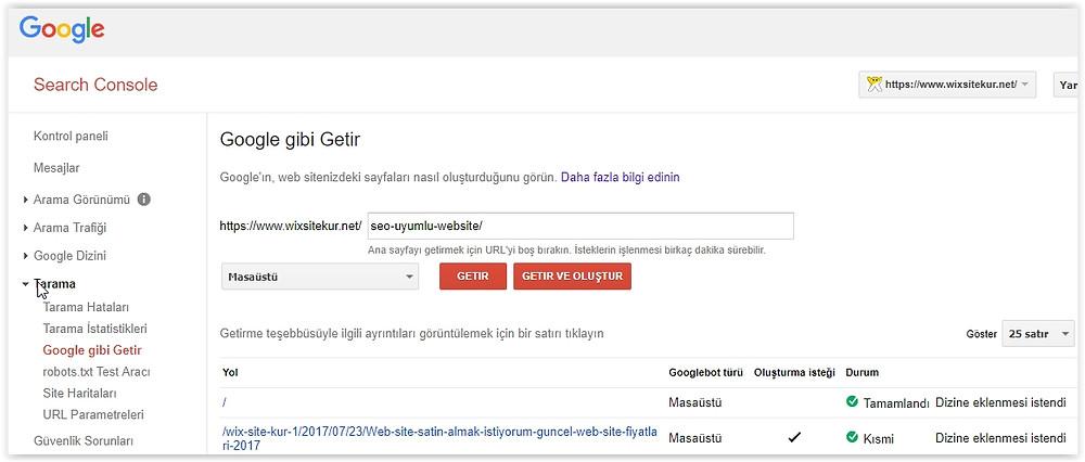 google gibi getir nasıl kullanılır?
