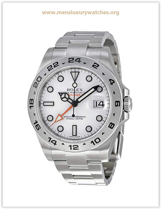 Rolex Explorer II White Dial Stainless Steel Oyster Bracelet Automatic Men's Watch Price May 2019