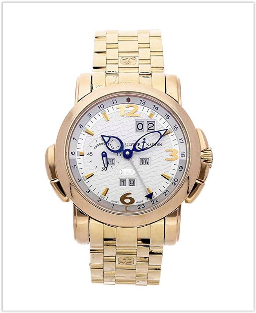 Ulysse Nardin GMT Perpetual Calendar Mechanical (Automatic) Silver Dial Men's Watch best price