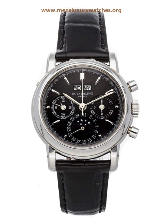 Patek Philippe Grand Complications Manual Wind Black Dial Watch 3970P (Pre-Owned)