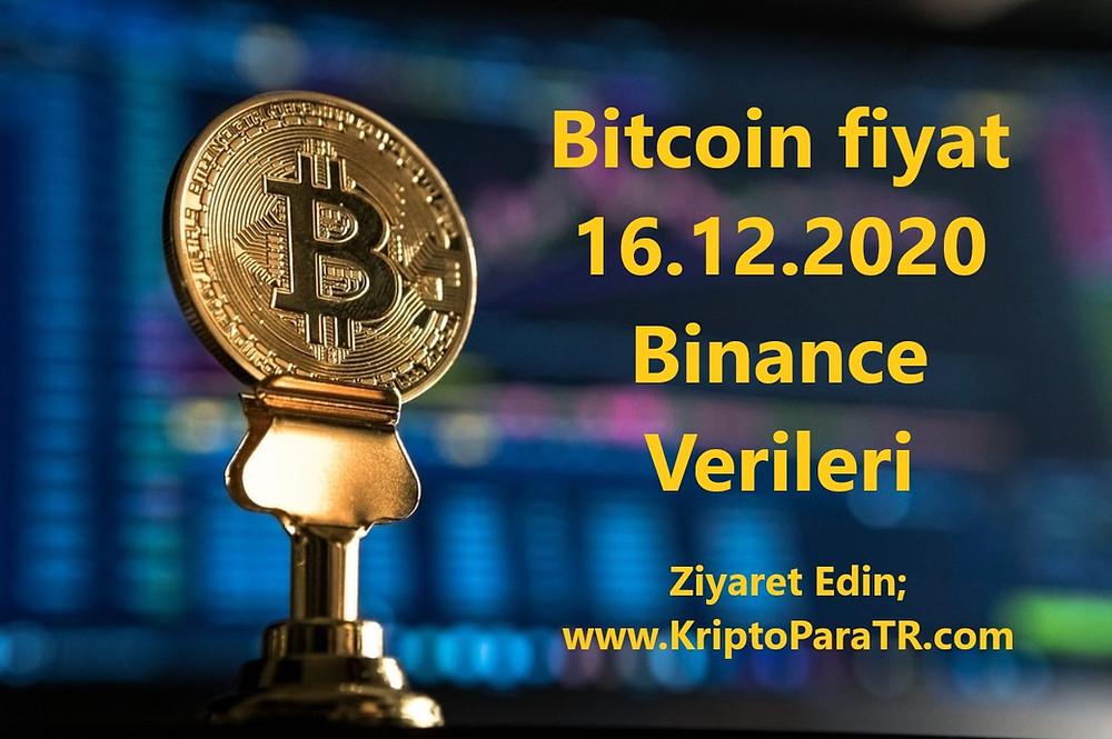 Bitcoin fiyat 16.12.2020 Binance verileri